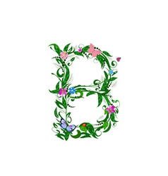 letter flower vector image vector image