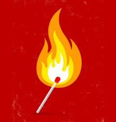 match fire vector image vector image