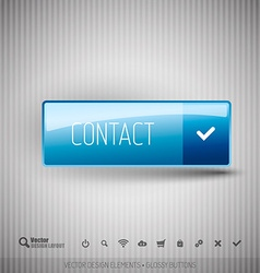 Modern button contact with icons set vector image