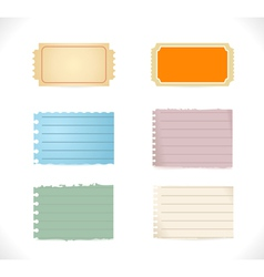Torn Blank Papers vector image vector image