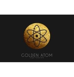 atom symbol atom logo design color atom science vector image