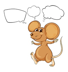 Cartoon Thinking Mouse vector image vector image