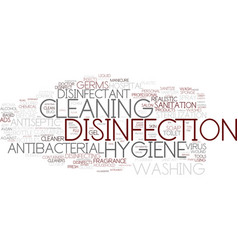 Disinfection word cloud concept vector