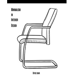 office chair in a contour on a white background vector image
