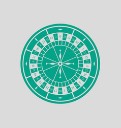 roulette wheel icon vector image