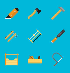 set of 9 editable tools icons includes symbols vector image