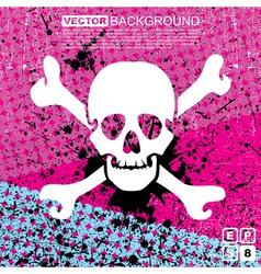 skull background vector image