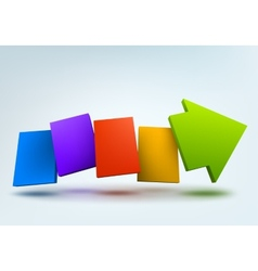 Abstract with 3d arrow and vector image