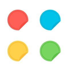 Colorful flat design sticker banner label set vector image