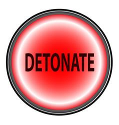 detonate button vector image