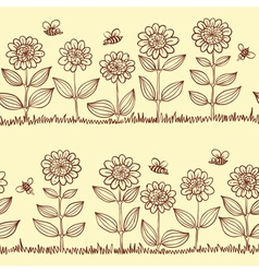 doodle seamless pattern vector image vector image