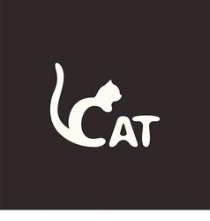 logo cat vector image