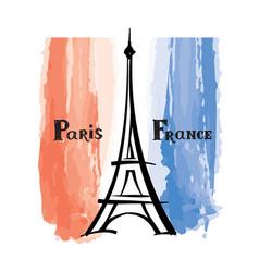 travel france sign paris famous eiffel tower vector image