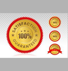 100 percent customer satisfaction seal vector