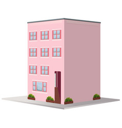 3d design for building painted in pink vector image