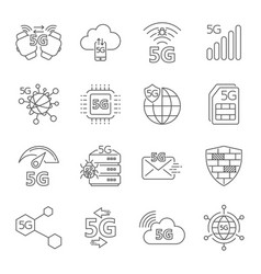 5g technology wireless 5g network mobile vector image