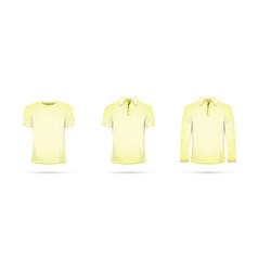 A yellow t-shirt vector