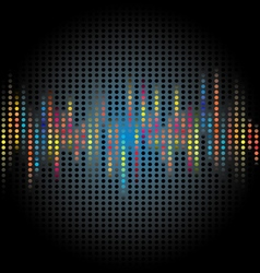 abstract graphic black dot background vector image