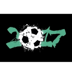 Abstract number 2017 and soccer ball vector