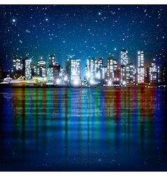 abstract panoramic background with night vector image
