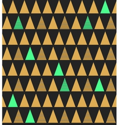 Abstract seamless pattern with triangles in bright vector image
