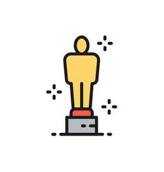 academy award oscar prize trophy flat color vector image