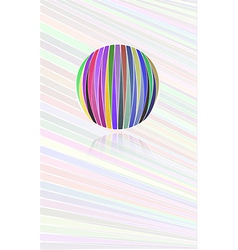 background with color lines and color ball vector image