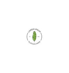 Banana leaf logo design template vector