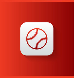 baseball line icon isolated on gradient background vector image