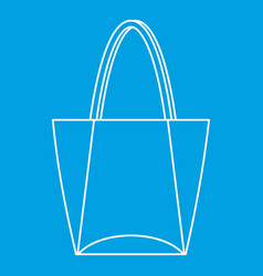 Big bag icon outline style vector