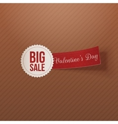 Big sale text on white badge with red tag vector