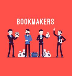 Bookmakers men with money vector