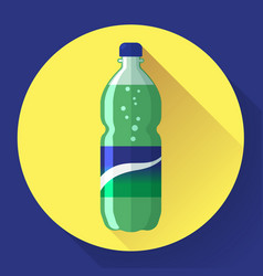 bottle of soda with green lable vector image
