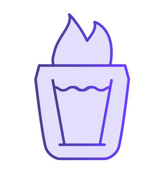 burning cocktail flat icon b-52 cocktail violet vector image