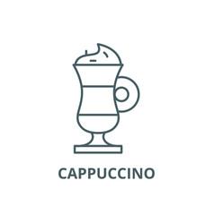 cappuccino line icon cappuccino outline vector image