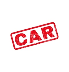 Car rubber stamp vector