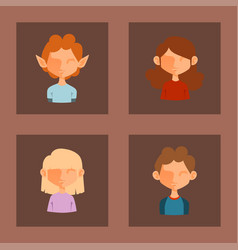 character various boy and girl face avatar vector image