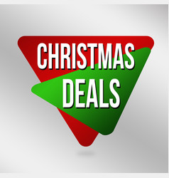 christmas deals label or sticker vector image