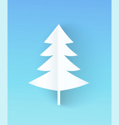 Christmas tree made of paper vector