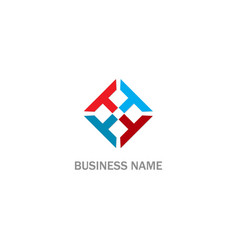 Circle t initial colored business logo vector
