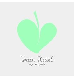 Conceptual Leaf Heart Logo vector image