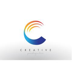 Creative corporate c letter logo icon design with vector