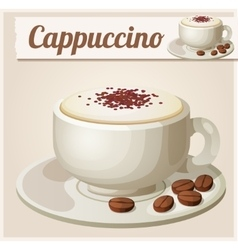 Cup of cappuccino Detailed Icon vector