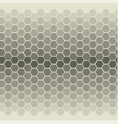 degrade with striped hexagon shapes vector image