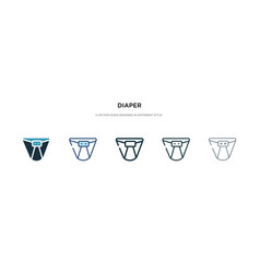 Diaper icon in different style two colored vector