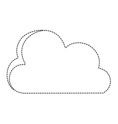 dotted shape nice cloud nature weather icon vector image