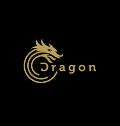 dragon logo design template vector image