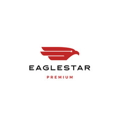 eagle bird star stars logo icon vector image