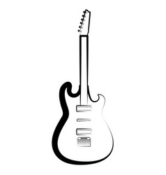 electric guitar outline musical instrument vector image