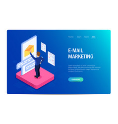email marketing concept with characters design vector image